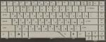 Клавиатура для ноутбука TravelMate 4320, 4520, 4720, 5310, 5320, 5520, 5710, 5720, Extensa 4120, 4220, 4620, 5200, Б/У, белая, RUS