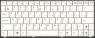 Клавиатура для ноутбука ASUS Eee PC 1101/N10E/N10J, аналог, новая, белая, RUS