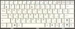 Клавиатура 04GOA0U2KRU10-3 для нетбуков ASUS Eee PC 1000/1003 series, аналог, новая, белая, RUS