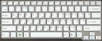 Клавиатура для ноутбука Sony VAIO VPC-CW, аналог, без рамки, новая, белая, RUS