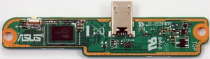 Плата подключения тачскрина для ASUS MeMO Pad ME302C с разъемом miniUSB, оригинальная, новая, 90NK00A0-R10020