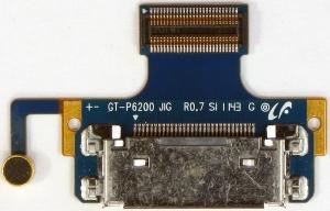 Разъем системный GH59-11549A для планшета Samsung P6200 Galaxy Tab 7.0 всборе со шлейфом и микрофоном, аналог, новый