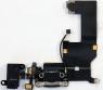 Шлейф межплатный для сотового телефона Apple iPhone 5 в сборе с системным разъемом, микрофоном и разъемом гарнитуры, аналог, новый, черный