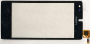 Тачскрин (сенсор) для телефона Philips Xenium W737, 003330003961, оригинальный, новый, черный
