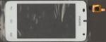 Тачскрин (сенсор) для телефона Philips Xenium W536, 003330003741, оригинальный, новый, белый