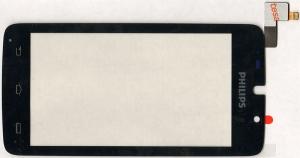 Тачскрин (сенсор) для телефона Philips Xenium W8500, 433900720411, оригинальный, новый, черный