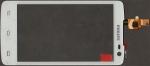 Тачскрин (сенсор) для телефона Philips Xenium W732, оригинальный, новый, белый