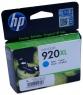 Картридж струйный HP 920XL cyan CD972AE