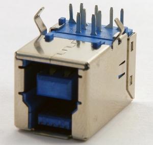 Разъем USB на плату для принтеров и МФУ, стандартный, горизонтальный, новый