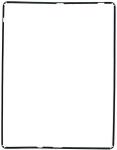 Рамка тачскрина для планшета Apple iPad 2 Совместимый, Новый, Черный