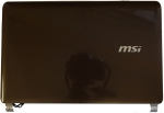 Крышка матрицы для ноутбука MSI U160 БУ, Коричневый