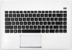 Kлавиатура 90R-N4O2K1J80U для ноутбука Asus X401U, топкейс, оригинальная, новая, белая, RUS