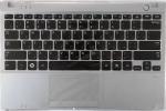 Клавиатура для ноутбука Samsung NP350U2B топкейс (BA59-03135D) Оригинальный, Новый, Серый, клавиатура черная, RUS