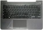 Клавиатура для ноутбука Samsung NP350U3B топкейс (BA75-03711CA) Оригинальный, Серая, клавиатура черная, RUS