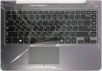 Клавиатура для ноутбука Samsung NP350U4C топкейс (BA75-04038M) Оригинальный, Новый, Серая, клавиатура черная, RUS