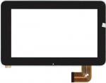 Тачскрин (сенсор) для планшета Texet TM-7026 С клейкой лентой для монтажа, Аналог, Новый, Черный