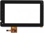 Тачскрин (сенсор) PB70DR8065_01 для планшета Texet TM-7025 С клейкой лентой для монтажа, Аналог, Новый, Черный