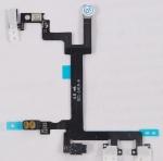 Шлейф кнопки включения для сотового телефона Apple iPhone 5 вместе с боковыми кнопками Новый