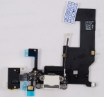 Шлейф межплатный для сотового телефона Apple iPhone 5 в сборе с системным разъемом, микрофоном и разъемом гарнитуры Новый