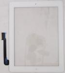 Тачскрин для планшета Apple iPad 3 A1403/A1416/A1430, iPad 4 A1458/A1459/A1460 Grade A+, Всборе с кнопкой HOME, без клейкой ленты, Оригинальный china, Новый, Белый