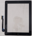 Тачскрин для планшета Apple iPad 3 A1403/A1416/A1430, iPad 4 A1458/A1459/A1460 Grade A+, Всборе с кнопкой HOME, без клейкой ленты, Оригинальный china, Новый, Черный