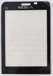 Стекло дисплея для Nokia C5-00 Аналог, Новый, Черный