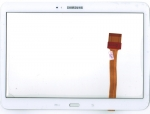 Тачскрин (сенсор) для планшета Samsung Galaxy Tab 3 GT-P5200/Galaxy Tab 3 GT-P5210 С клейкой лентой для монтажа, Аналог, Новый, Белый