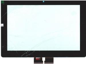 Тачскрин (сенсор) для планшета Sony Xperia Tablet S С клейкой лентой для монтажа, Аналог, Новый, Черный