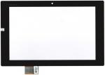 Тачскрин (сенсор) для планшета Sony Xperia Tablet Z SGP311/Xperia Tablet Z SGP321 Без монтажной ленты по периметру, Аналог, Новый, Черный