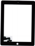 Тачскрин для планшета Apple iPad 2 Grade A+, Без монтажной ленты по периметру, Аналог, Новый, Черный