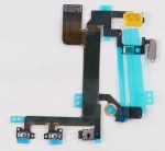 Шлейф кнопки включения для сотового телефона Apple iPhone 5S вместе с боковыми кнопками Аналог, Новый