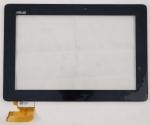 Тачскрин (сенсор) 69.10I21.G01 для планшета ASUS TF300T/TG Всборе с рамкой крепления, Аналог, Новый, Черный